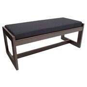 Regency Belcino Double Seat Bench- Mocha Walnut/ Black (BBNCH2148MWBK)