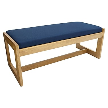 Regency Belcino Double Seat Bench, Medium Oak/Blue (BBNCH2148MOBE)