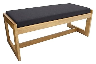 Regency Belcino Double Seat Bench- Medium Oak/ Black (BBNCH2148MOBK)