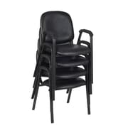 Regency Ace Vinyl Stack Chair 4/Pack, Black (2125LBK4PK)