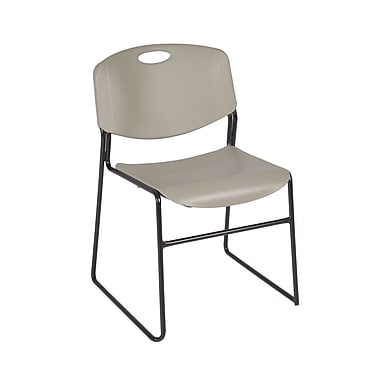 Regency Zeng Stack Chair 4/Pack, Grey (4400GY4PK)