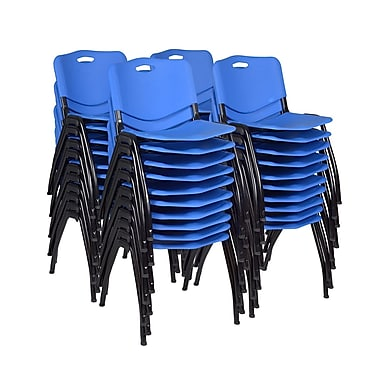 Regency 'M' Stack Chair 40/Pack, Blue (4700BE40PK)