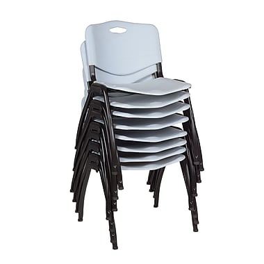 Regency 'M' Stack Chair 8/Pack, Grey (4700GY8PK)