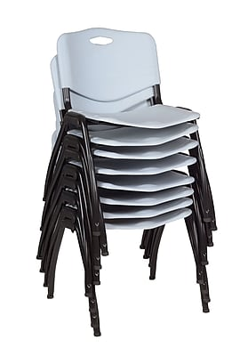 Regency 'M' Stack Chair (8 pack)- Grey (4700GY8PK)