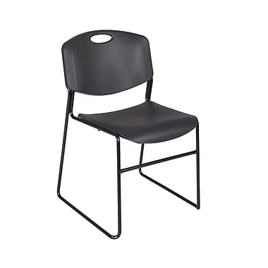 Regency Zeng Stack Chair 8/Pack, Black (4400BK8PK)