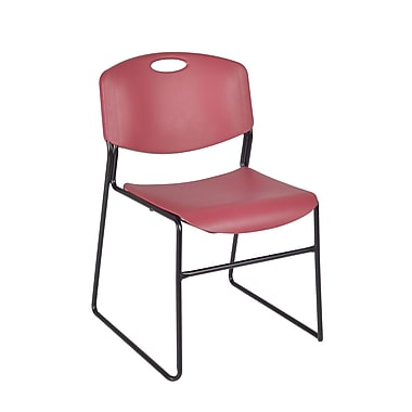 Regency Zeng Stack Chair 8/Pack, Burgundy (4400BY8PK)