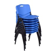 Regency 'M' Stack Chair (8 pack)- Blue (4700BE8PK)
