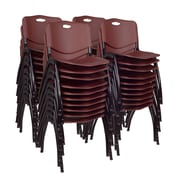 Regency 'M' Stack Chair (40 pack)- Burgundy (4700BY40PK)