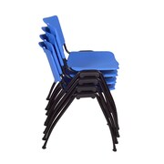 Regency 'M' Stack Chair (4 pack)- Blue (4700BE4PK)