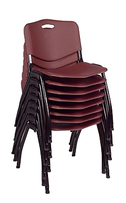Regency 'M' Stack Chair (8 pack)- Burgundy (4700BY8PK)