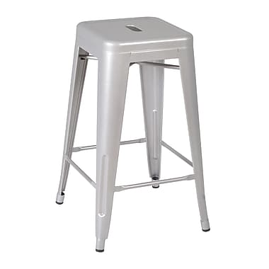 Regency Rivet Stack Stool 4/Pack, Grey (1295GY4PK)