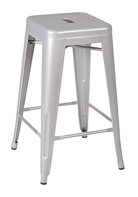 Regency Rivet Stack Stool (4 pack)- Grey (1295GY4PK)