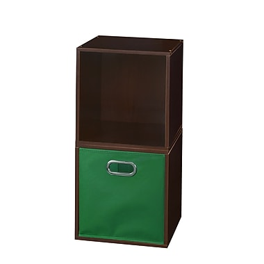 Niche Cubo Storage Set, 2 Cubes and 1 Canvas Bin, Truffle/Green (PC2PKTF1TOTEGN)