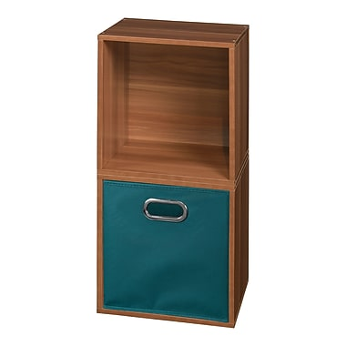 Niche Cubo Storage Set, 2 Cubes and 1 Canvas Bin, Warm Cherry/Teal (PC2PKWC1TOTETL)