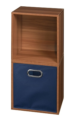 Niche Cubo Storage Set - 2 Cubes and 1 Canvas Bin- Warm Cherry/Blue (PC2PKWC1TOTEBE)