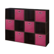 Niche Cubo Storage Set, 12 Cubes and 6 Canvas Bins