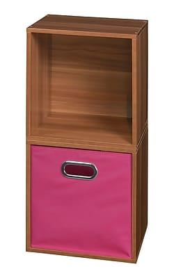 Niche Cubo Storage Set - 2 Cubes and 1 Canvas Bin- Warm Cherry/Pink (PC2PKWC1TOTEPK)
