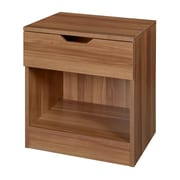 Niche Mod Single Drawer Night Stand- Warm Cherry (NNS2116WC)