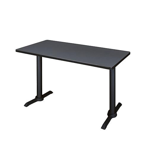 "Regency Cain 42"" x 24"" Training Table- Grey (MTRCT4224GY)"