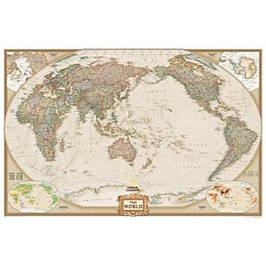 National Geographic World Executive - Pacific Centered - Enlarged And Laminated Map( NGS707)