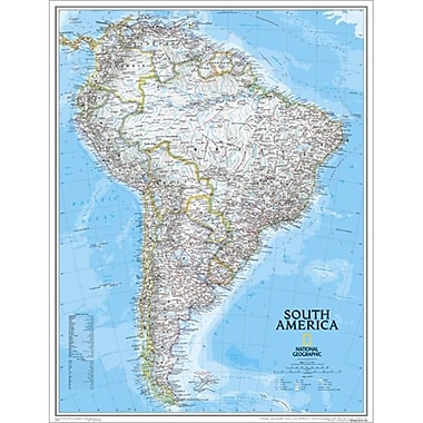 National Geographic Map Of South America - Enlarged( NGS609)