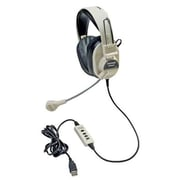 Califone International Deluxe USB Multimedia Stereo Headphones With Boom Microphone( CAFI097)