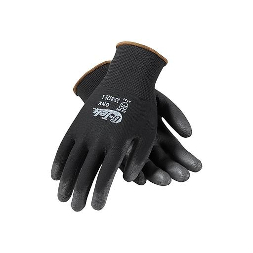 PIP G-Tek GP Polyurethane Gloves, Black Dozen (33-B125/L)