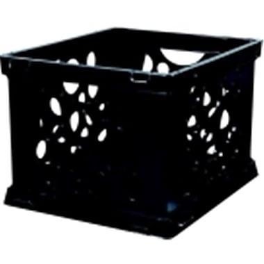 Storex Mini Stackable Storage Crate - Black( SSPC58535)