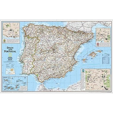 National Geographic Map Of Spain-Portugal( NGS311)