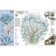 National Geographic Map Of Mount Everest 50th Anniversary - Two Sided - Tubed( NGS613)