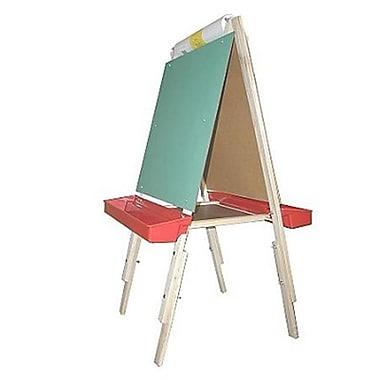 Beka Ultimate Easel, magnetboard, chalkboard, plastic trays - 42 in. tall( BEKA347)