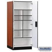 Salsbury Designer Wood Storage Cabinet Standard - 76 Inches High - 24 Inches Deep - Cherry( SBRI6370)