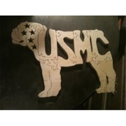 Fine Crafts Wooden 7 Piece Usmc Bulldog Jigsaw Puzzle( RTL169162)