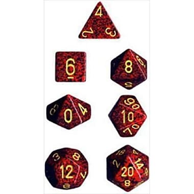 Chessex Manufacturing 25323 Mercury Speckled Polyhedral Dice Set Of 7( ACDD1857)