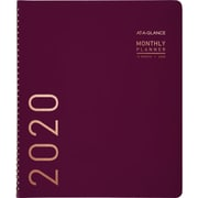 """2020 AT-A-GLANCE 9"""" x 11"""" Contemporary Monthly Planner, 12 Months, January Start, Purple (70-250X-59-20)"""