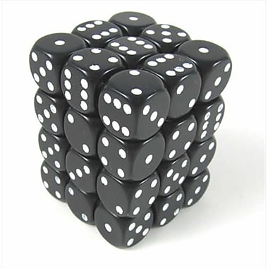 Chessex Manufacturing 25808 Opaque Black With White - 12 mm Six Sided Dice Set Of 36( ACDD1940)