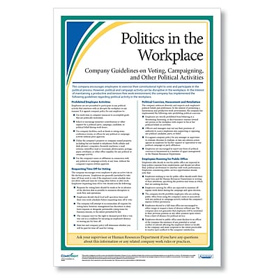 ComplyRight Politics in the Workplace Poster, 11x17 (A2245)