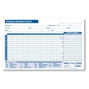 """ComplyRight Small Attendance Record Card, 8"""" x 5"""", Pack of 50 (A2208)"""