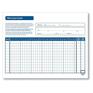 ComplyRight FMLA Leave Tracker, Pack of 50 (A1436)