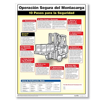 ComplyRight Forklift Safety Poster, Spanish, 18x24 (W1716)