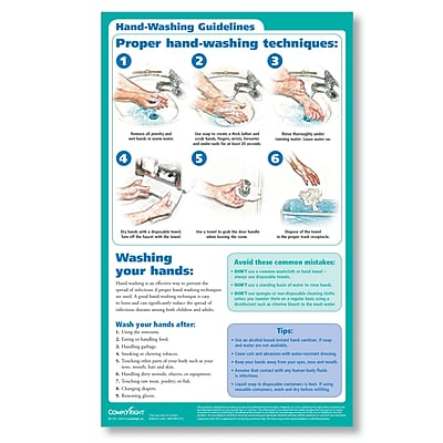 ComplyRight Hand Washing Poster (W1733)