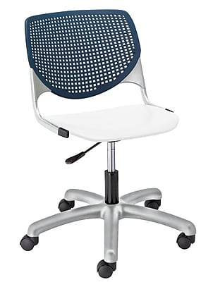 KFI TK2300-BP03SP08 KOOL Collection Navy & White Poly 5 Star Base with Casters