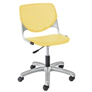 KFI TK2300-P12 KOOL Collection Yellow Poly 5 Star Base with Casters Chair