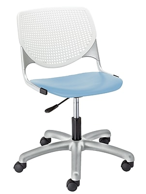 KFI TK2300-BP08SP35 KOOL Collection Sky Blue & White Poly 5 Star Base with Casters