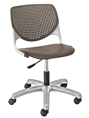 KFI TK2300-P18 KOOL Collection Brownstone Poly 5 Star Base with Casters Chair