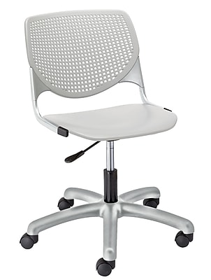KFI TK2300-P13 KOOL Collection Light Grey Poly 5 Star Base with Casters Chair
