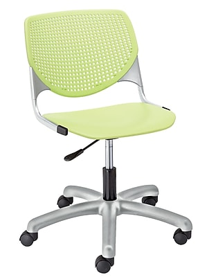 KFI TK2300-P14 KOOL Collection Lime Green Poly 5 Star Base with Casters Chair