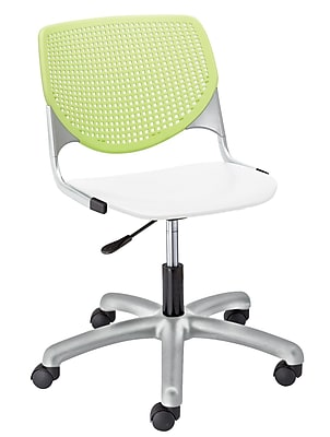 KFI TK2300-BP14SP08 KOOL Collection Lime Green & White Poly 5 Star Base with Casters