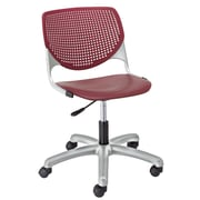 KFI TK2300-P07 KOOL Collection Burgundy Poly 5 Star Base with Casters Chair