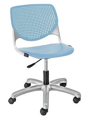 KFI TK2300-P35 KOOL Collection Sky Blue Poly 5 Star Base with Casters Chair
